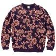 画像1: CALEE/Allover flower pattern crew neck sweat(パープル)[フラワーパターンスウェット-21秋冬] (1)