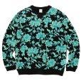 画像1: CALEE/Allover flower pattern crew neck sweat(ブラック)[フラワーパターンスウェット-21秋冬] (1)