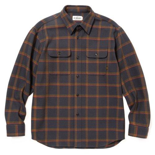 他の写真1: CALEE/6/6 Twill L/S check shirt(ネイビー)[ツイルチェックシャツ-21秋冬]