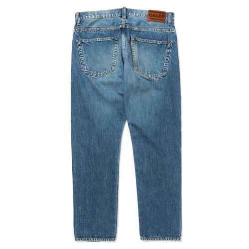 他の写真2: CALEE/Vintage reproduct tapered used denim pants(ユーズドインディゴブルー)[テーパードユーズドデニムパンツ-21秋冬]