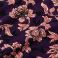 画像5: CALEE/Allover flower pattern crew neck sweat(パープル)[フラワーパターンスウェット-21秋冬]
