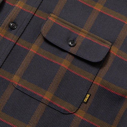 他の写真3: CALEE/6/6 Twill L/S check shirt(ネイビー)[ツイルチェックシャツ-21秋冬]