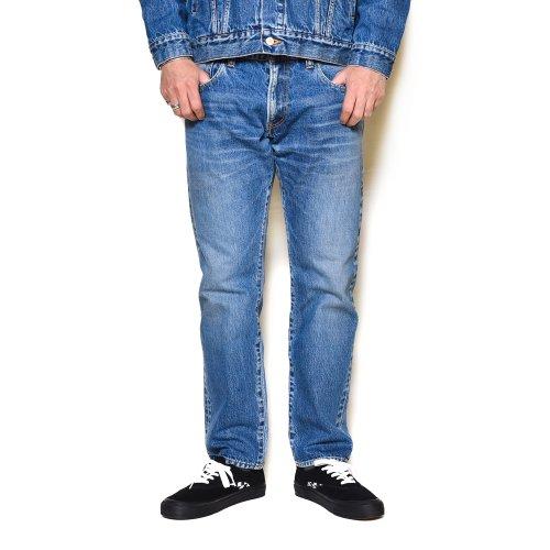 他の写真3: CALEE/Vintage reproduct tapered used denim pants(ユーズドインディゴブルー)[テーパードユーズドデニムパンツ-21秋冬]