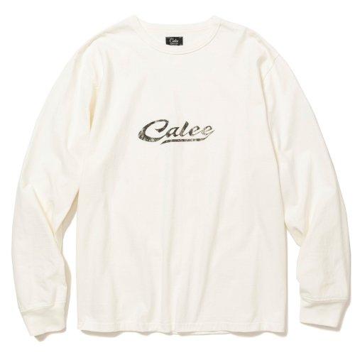他の写真1: CALEE/Binder neck calee logo vintage L/S t-shirt(ホワイト)[プリント長袖T-21秋冬]