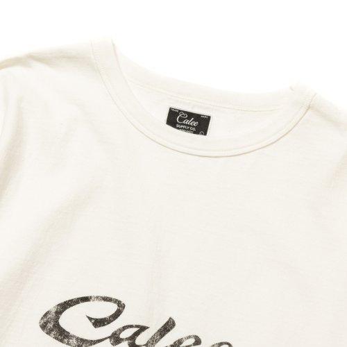 他の写真2: CALEE/Binder neck calee logo vintage L/S t-shirt(ホワイト)[プリント長袖T-21秋冬]