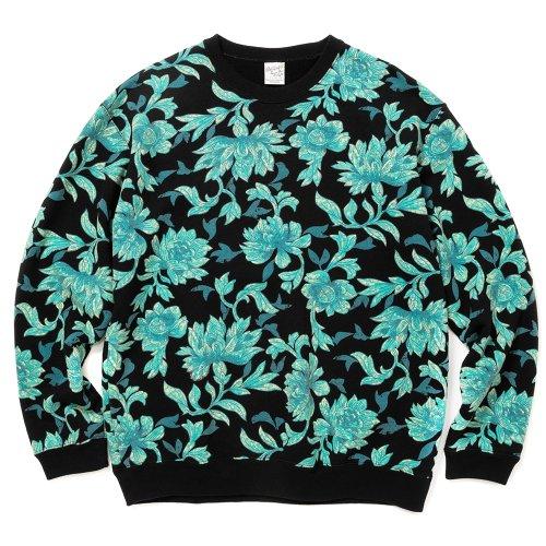 他の写真1: CALEE/Allover flower pattern crew neck sweat(ブラック)[フラワーパターンスウェット-21秋冬]