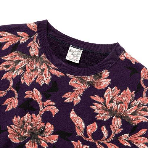 他の写真2: CALEE/Allover flower pattern crew neck sweat(パープル)[フラワーパターンスウェット-21秋冬]