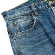 画像5: CALEE/Vintage reproduct tapered used denim pants(ユーズドインディゴブルー)[テーパードユーズドデニムパンツ-21秋冬]