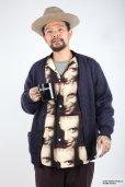 画像2: WACKO MARIA/HANNIBAL / HAWAIIAN SHIRT L/S(モノ)[ハワイアンシャツ-21秋冬] (2)