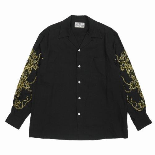 他の写真1: WACKO MARIA/TIM LEHI / 50'S SHIRT L/S(ブラック)[50'Sシャツ-21秋冬]