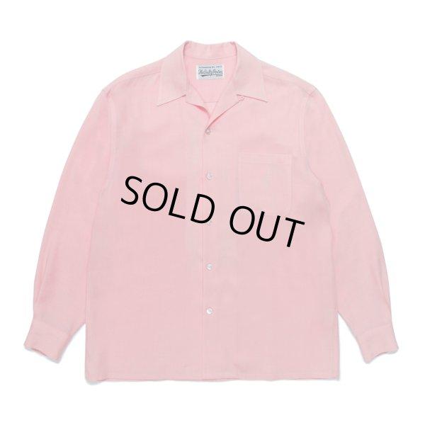 画像1: WACKO MARIA/50'S SHIRT L/S(ピンク)[50'Sシャツ-21秋冬]