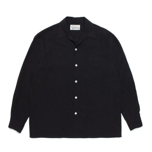 他の写真1: WACKO MARIA/50'S SHIRT L/S(ブラック)[50'Sシャツ-21秋冬]