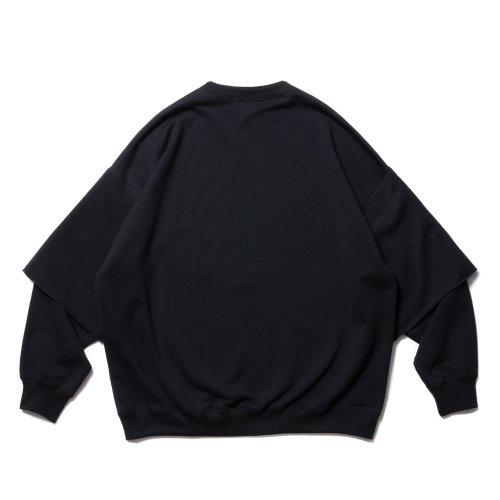 他の写真2: COOTIE/Cellie Crewneck Sweatshirt(ブラック)[レイヤードクルーネックスウェット-21秋冬]